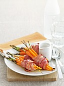 Bacon-wrapped baby carrots