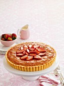 Bakewell tart with strawberries