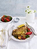 Chermoula snapper with lemon potatoes and tomato salad for Christmas