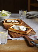 Vegetable tart with goat's cheese
