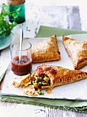Curried beef pasties