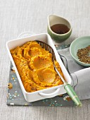 Carrot and cauliflower purée