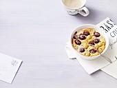 Flaugnardes (Gebackenes Dessert mit Trauben, Frankreich)