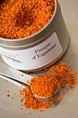 A tin of Espelette pepper