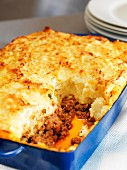 Hachis Parmentier (minced meat bake topped with mashed potatoes, France)