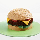 A hamburger cake for a party