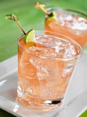 Paloma (cocktail made with tequila and pink grapefruit lemonade)