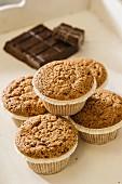 Muffins and dark chocolate
