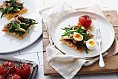 Nicoise tart with barbecued fish