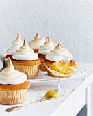 Zitronencupcakes mit Baiser