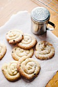 Homemade biscuits with icing sugar