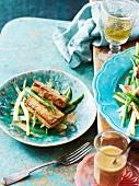 Bohnensalat mit Tofu