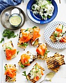 Smoked salmon bruschetta with remoulade