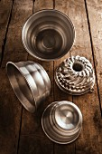 Various Bundt cake tins and pudding basins
