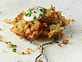 Potato fritter with onions