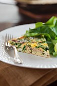 Muenster cheese frittata with spinach