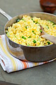 Pilau with peas and saffron