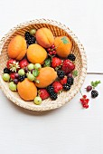 A basket of summer fruits