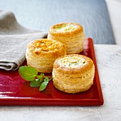 Vol au vents filled with meat