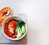 Salmon in tomato ginger sauce