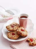 Cherry and nut biscuits