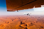 A view from an aeroplane over the Namibia desert, Sossusvlei, Namibia