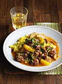 Lamb ragout with fennel and oranges