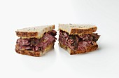 Rye bread sandwich with Pastrami