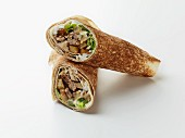 A chicken shawarma wrap