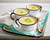 Corn soup with chives
