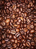 Coffee beans, full frame, close-up