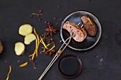 Spicy duck fondue