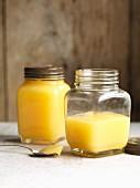Two jars of lemon curd