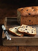 Raisin bread with butter