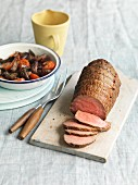 Roast beef with vegetable salad
