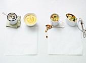 Four quick vegan soups
