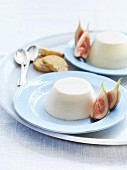 Goat's milk panna cotta with figs