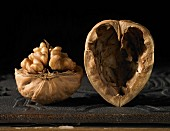 A walnut with a heart-shaped shell