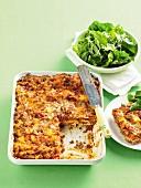 Lasagne mit Schweinefleisch und Kalbfleisch