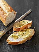 A herb butter baguette