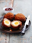 Scotch Eggs with chutney (England)