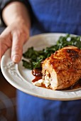 Gluten Free Chicken Thighs Stuffed with Rice and Herbs