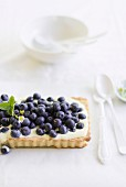 Blueberry and mascarpone tart