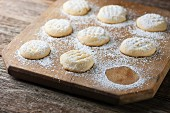 Cookies with icing sugar
