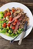 Getreidesalat mit Rindfleisch