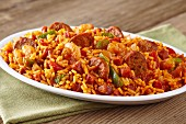 Jambalaya (traditional Cajun rice dish, USA)