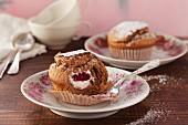 Filled nougat muffins
