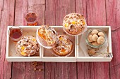 Peach muffins with amaretto