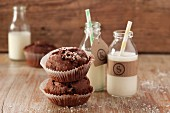 Chocolate muffins with coconut