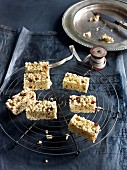 Rice crispy and dried banana bars